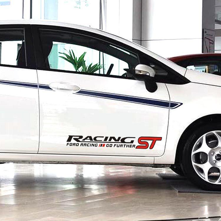 Tem decal dán sườn xe ô tô ST Racing