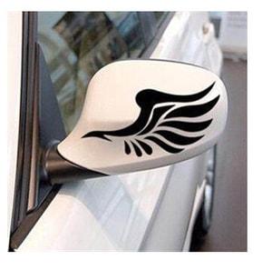 Tem decal hình đôi cánh dán trang trí gương ô tô MS-150