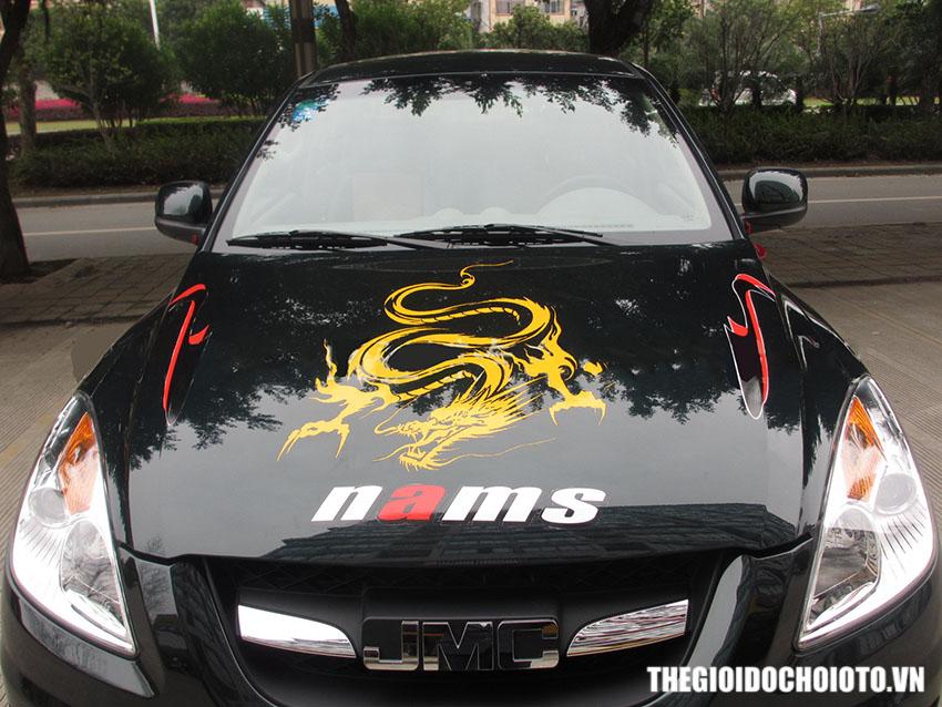 Tem decal hình rồng dán trang trí xe ô tô