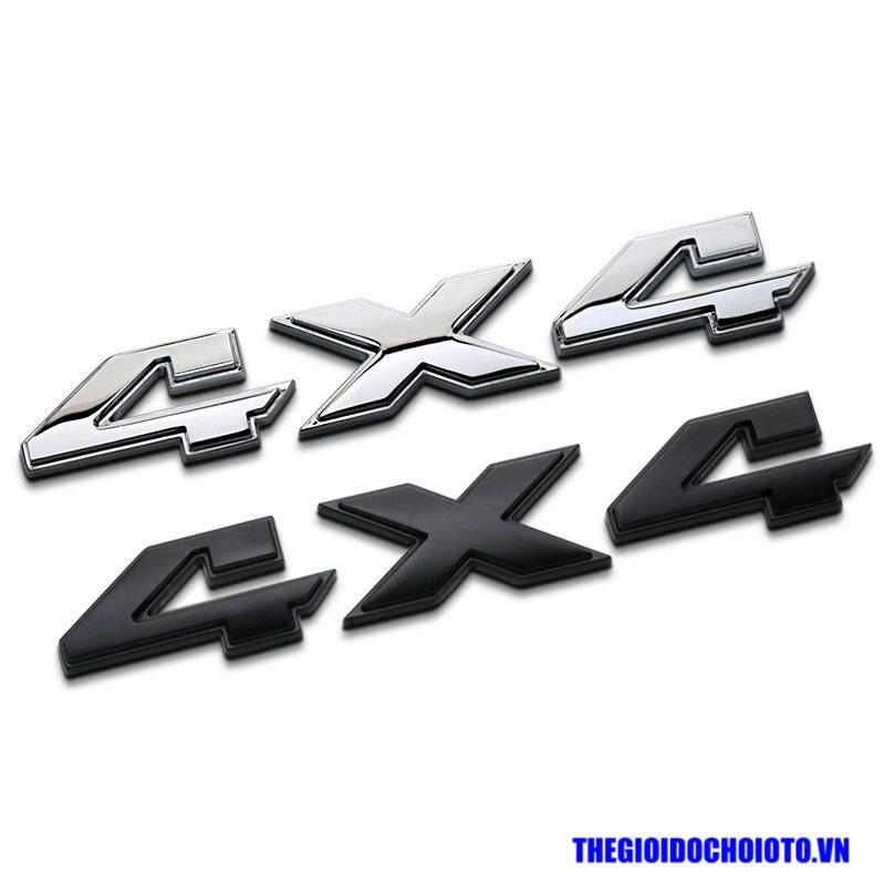 Tem Decal Logo 4x4 dán xe ô tô