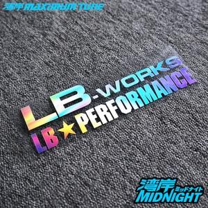Tem decal chữ LB Works LB Performance màu sắc dán trang trí ô tô ms-258