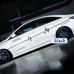 Tem hình sóng điện dán trang trí sườn xe ô tô ms-170