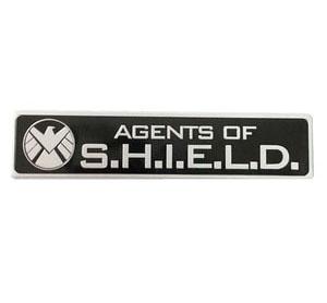 Tem Logo Agents of Shield bằng kim loại 12 x 2.5 cm dán xe ô tô ms-272