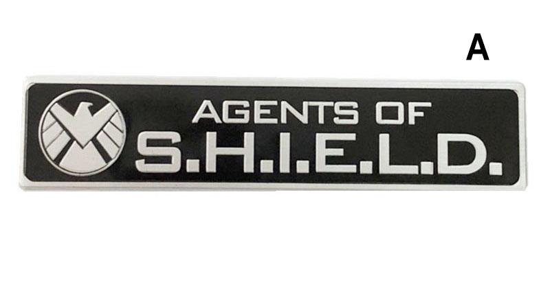 Tem Logo Agents of Shield bằng kim loại 12 x 2.5 cm dán xe ô tô