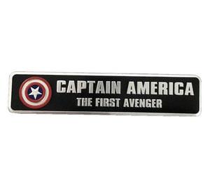 Tem Logo Captain American Đội trưởng Mỹ bằng kim loại 12x2.5 cm ms-271