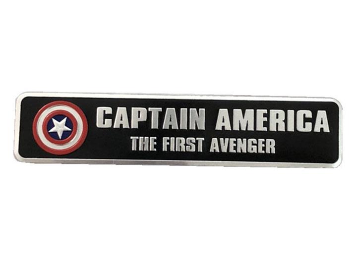 Tem Logo Captain American Đội trưởng Mỹ bằng kim loại 12x2.5 cm