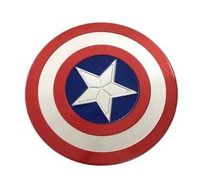 Tem Logo Khiên Captain American Đội trưởng Mỹ bằng kim loại đường kính 7.5 cm ms-270