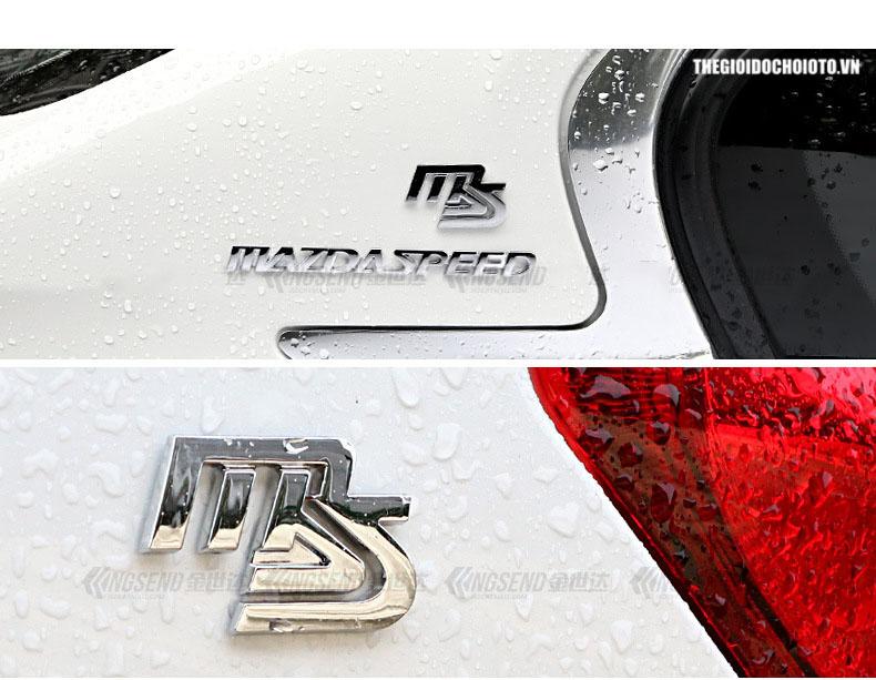 Tem logo chữ Mazda Speed dán xe ô tô