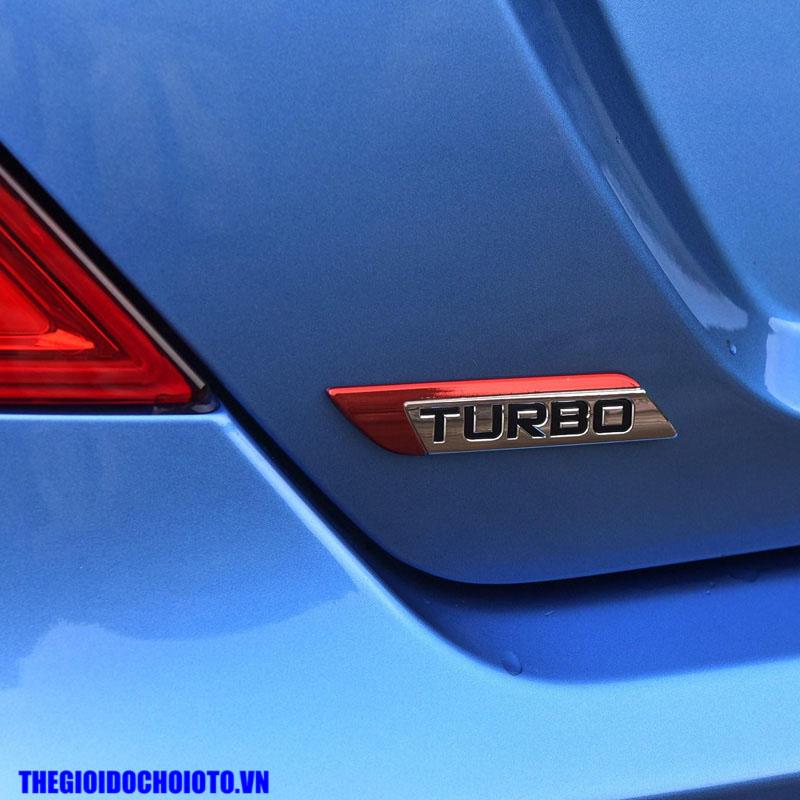 Tem logo Turbo dán xe ô tô