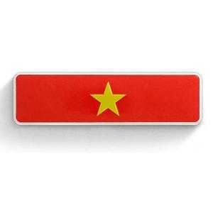 Tem Logo Cờ Việt Nam bằng kim loại 12 x 2.5 cm dán xe ô tô ms-275