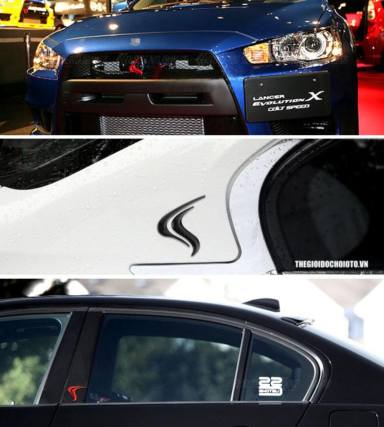 Tem logo hình ngọn lửa Colt Speed dán xe ô tô