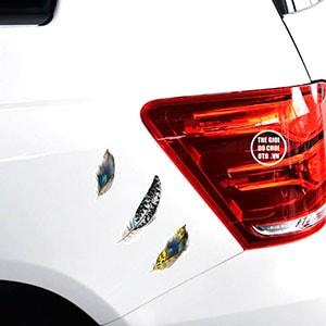 Decal tem lông vũ dán trang trí ô tô ms-11