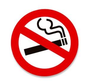 Tem Không hút thuốc No Smoking dán xe ô tô (mẫu 1) ms-182