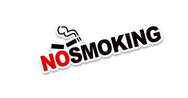 Tem Không hút thuốc No Smoking (mẫu 2) dán xe ô tô