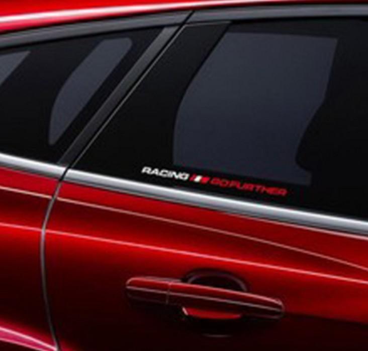 Tem Racing go Further phản quang dán kính cửa sổ ô tô