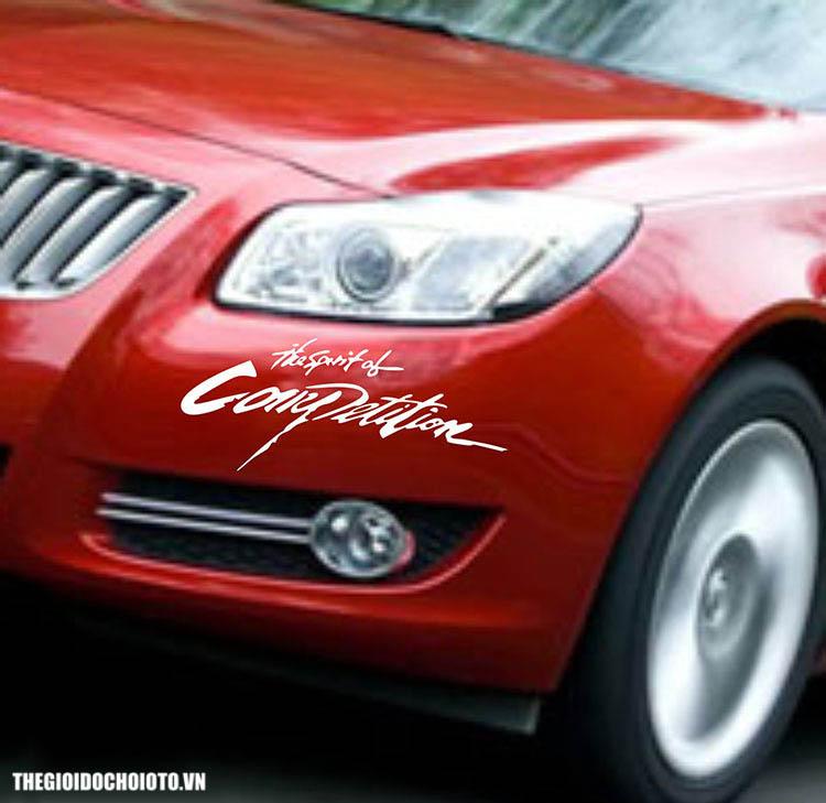 Tem dán xe ô tô  The spirit of Competition, tem dán nắp capo ô tô