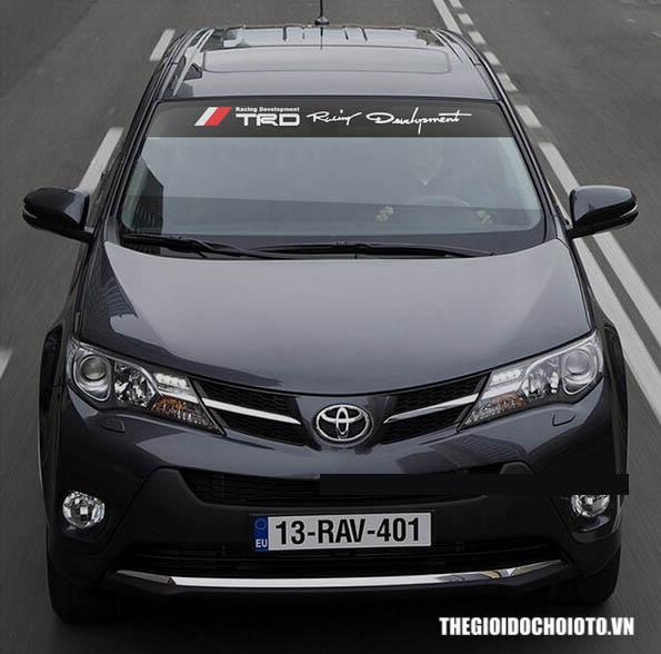 Dải Tem Decal TRD dán kính lái ô tô phong cách thể thao