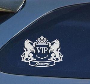 Tem Vip Sư tử dán trang trí xe ô tô MS-155