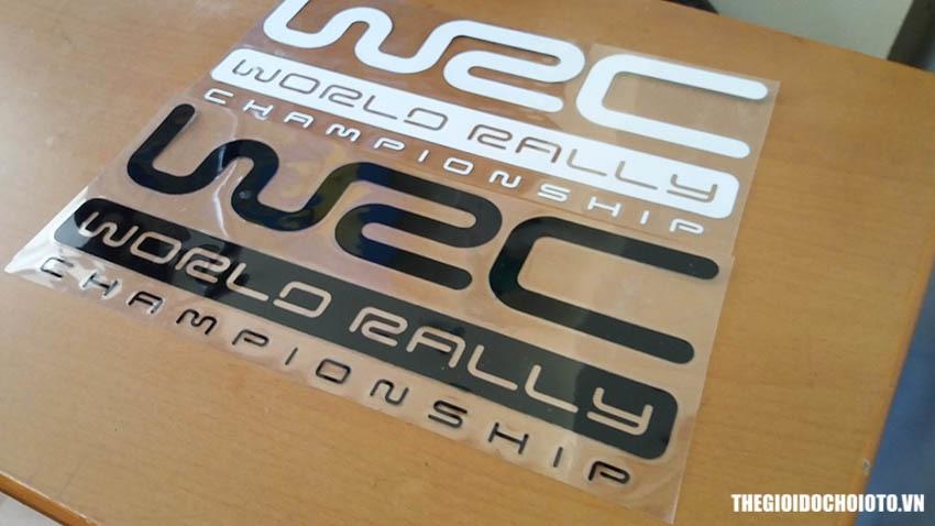 Tem WRC Fia World Rally Championship dán sườn xe ô tô