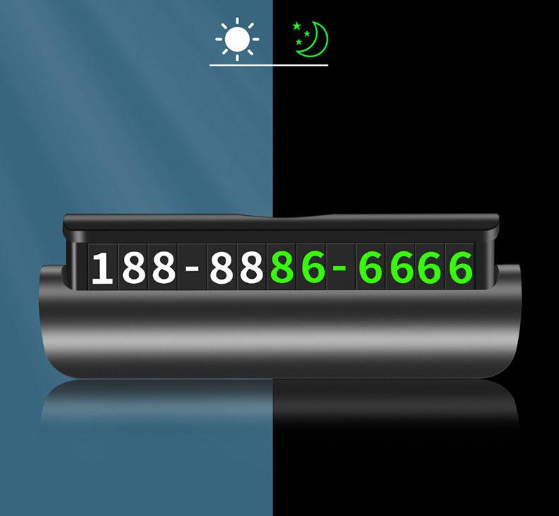 Bảng ghi số điện thoại trên ô tô có dạ quang (mẫu 12)