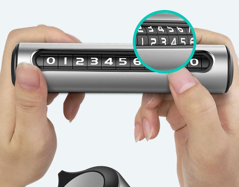 Bảng ghi số điện thoại trên ô tô dạng xoay để thay số (mẫu 15)