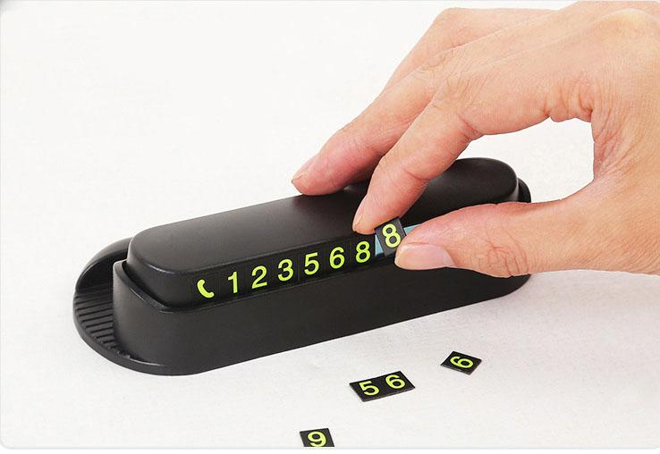 Bảng ghi số điện thoại ô tô kiêm giá để điện thoại