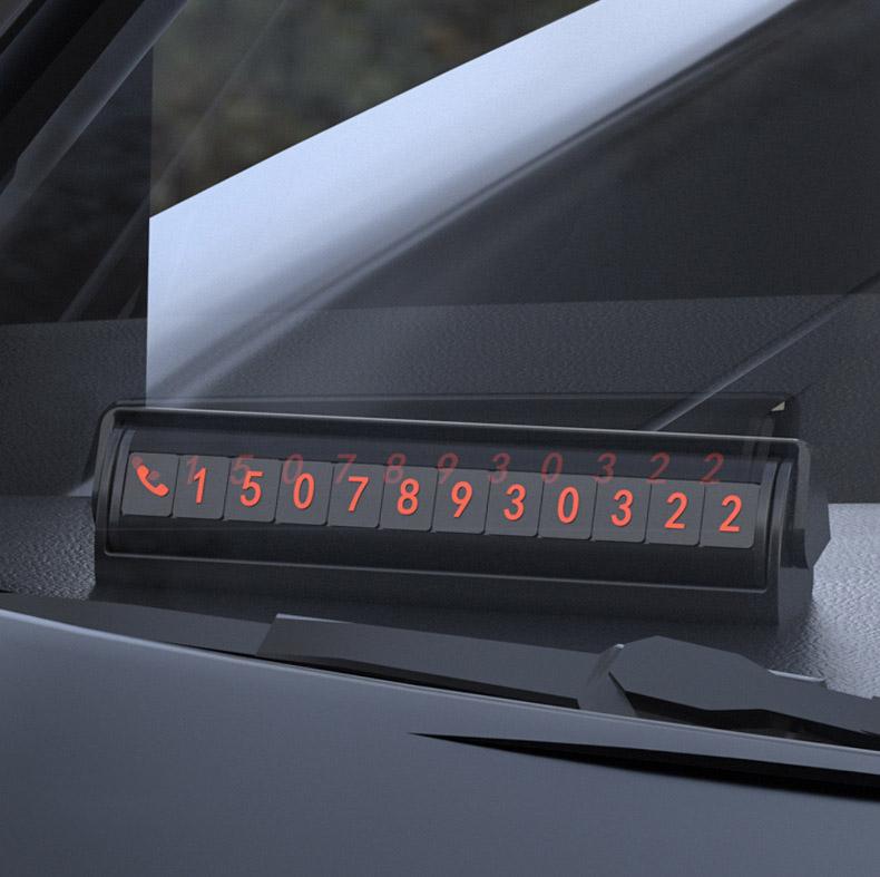 Bảng ghi số điện thoại trên ô tô ( mẫu 28 )
