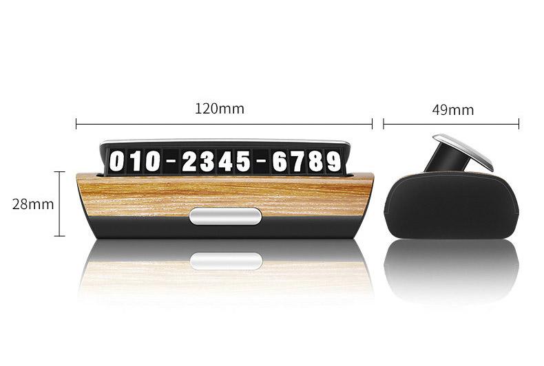 Bảng ghi số điện thoại trên ô tô ( mẫu 31 )