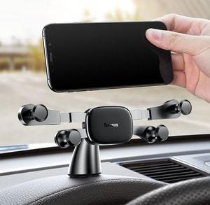 Giá đỡ điện thoại trên ô tô màn hình ngang dán taplo ô tô baseus (mẫu 63)