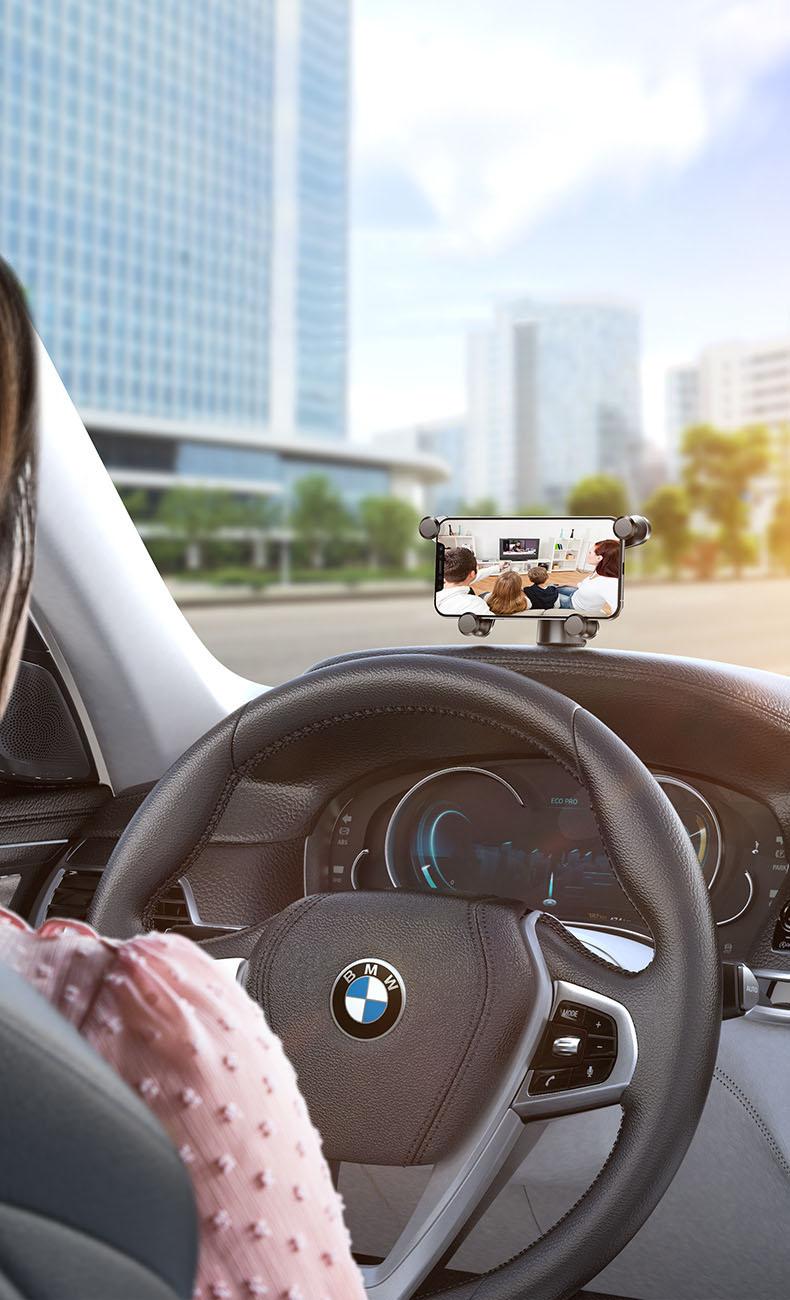 Giá đỡ điện thoại trên ô tô màn hình ngang dán taplo ô tô baseus