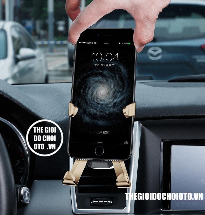 Giá đỡ điện thoại kẹp cửa gió ô tô BASEUS trọng lực chữ X (mẫu 11)