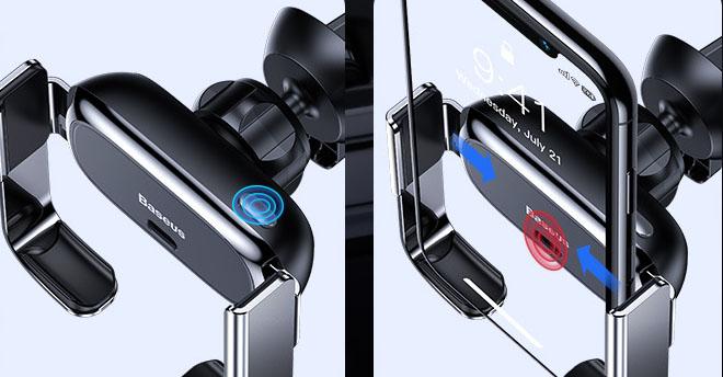 Giá đỡ điện thoại Baseus cảm biến hồng ngoại kẹp mở tự động ( mẫu 82)