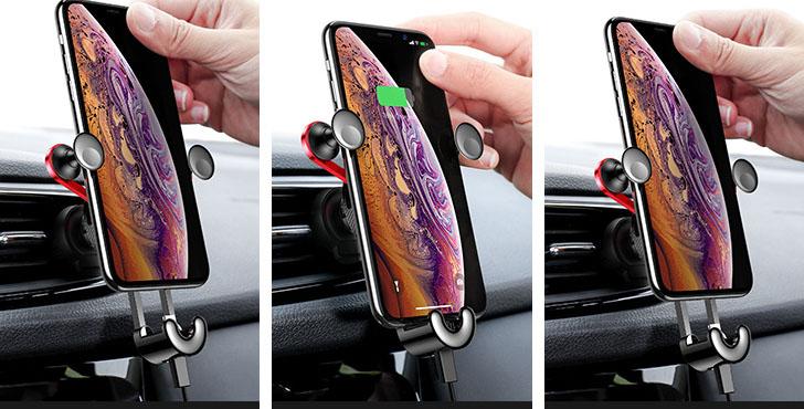 Giá đỡ điện thoại kiểu chữ Y  kèm cáp sạc iphone hoặc type c