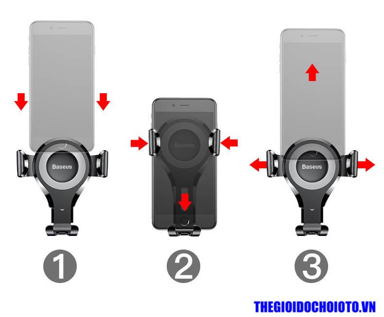 Giá đỡ điện thoại gắn taplo BASEUS trọng lực  (mẫu 20)