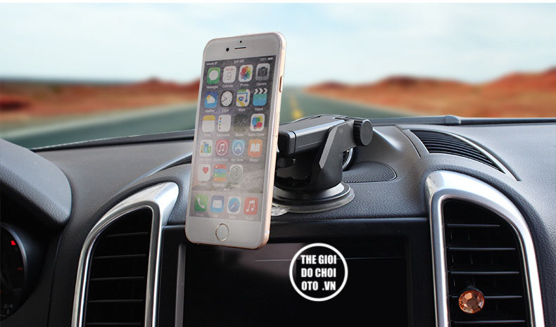 Giá đỡ điện thoại trên ô tô có cần kéo dài kết hợp với hút nam châm