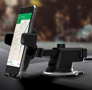 Giá đỡ, kẹp điện thoại trên ô tô có cần kéo dài (mẫu 1)