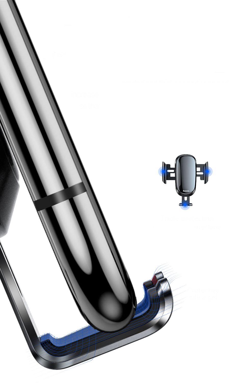 Giá đỡ điện thoại kẹp cửa gió điều hòa ô tô dạng tròn chính hãng Baseus (mẫu 81)