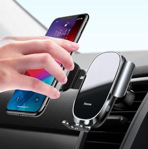 Giá đỡ điện thoại chạy điện thông minh tự động kẹp cảm biến khung hãng Baseus mẫu 59