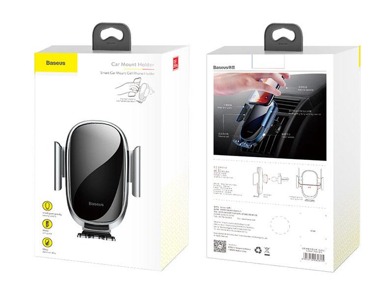 Giá đỡ điện thoại chạy điện thông minh tự động kẹp cảm biến khung hãng Baseus