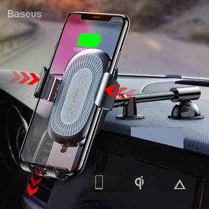 Giá đỡ điện thoại kiêm sạc không dây gắn taplo ô tô chính hãng Baseus (mẫu 36)