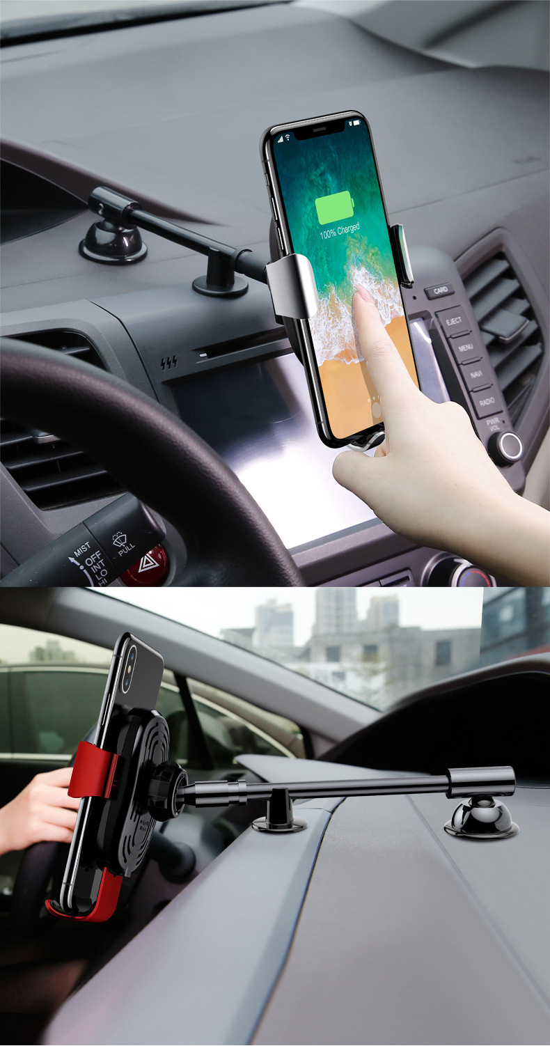 Giá đỡ điện thoại kiêm sạc không dây gắn taplo ô tô chính hãng Baseus