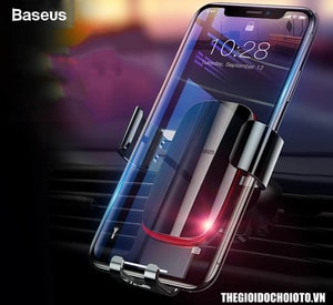 Giá đỡ điện thoại Baseus trọng lực kẹp cửa gió ô tô (mẫu 25)