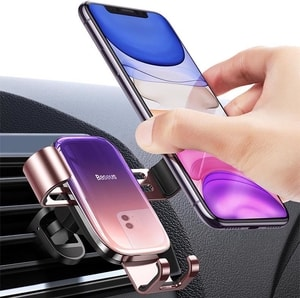 Giá đỡ điện thoại Baseus trọng lực  kẹp cửa gió ô tô (mẫu 25a)