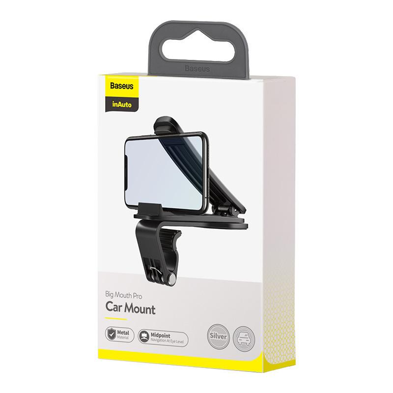 Giá đỡ điện thoại ô tô với chân đế mở rộng Baseus kẹp bảng đồng hồ  (mẫu 90)
