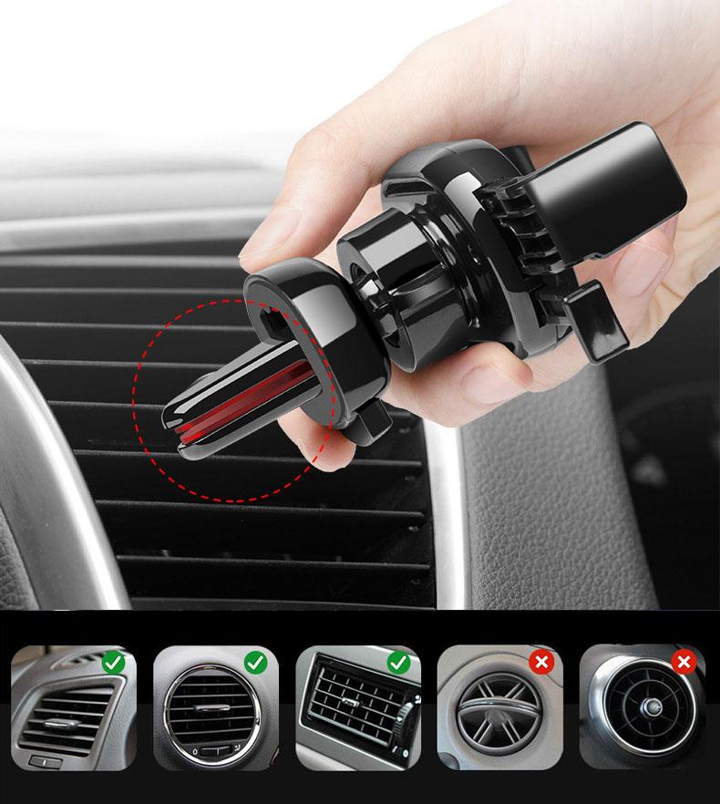 Giá đỡ điện thoại ô tô kẹp cửa gió điều hòa ( mẫu 106 )