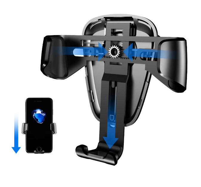 Giá đỡ điện thoại kẹp cửa gió ô tô BASEUS khung kim loại (mẫu 30)