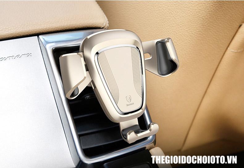 Giá đỡ điện thoại kẹp cửa gió ô tô BASEUS trọng lực (mẫu 9)
