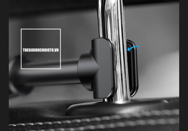 Giá đỡ điện thoại, ipad, máy tính bảng sau ghế ô tô hãng Baseus (Mẫu 5)