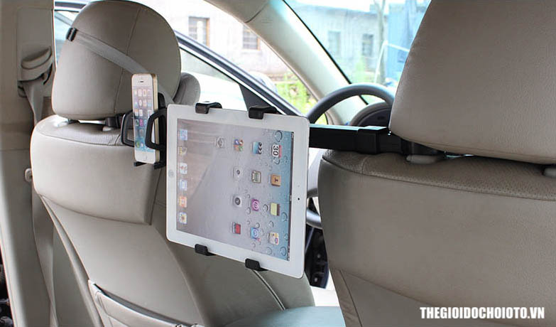 Giá đỡ, kẹp ipad treo sau ghế ô tô