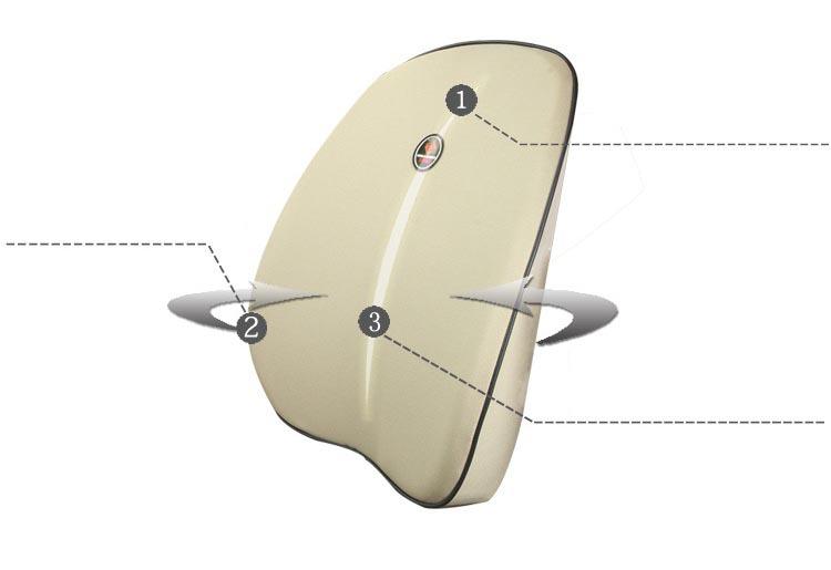 Bộ gối đầu tựa lưng ô tô cao su non  ( mẫu 16)